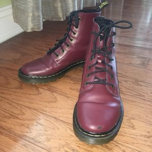 Leather red Dr. Marten boots